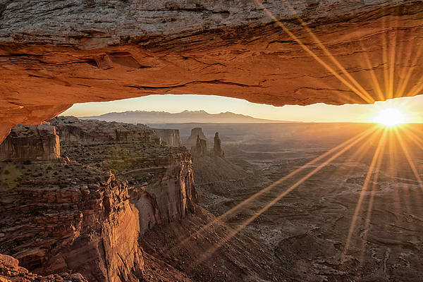 Sunrise Photograph - Mesa Arch Sunrise 4 - Canyonlands National Park - Moab Utah by Brian Harig