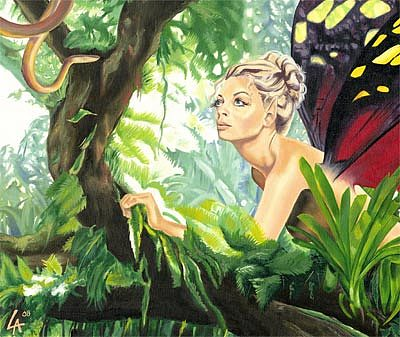 Faery Painting - Mesmerized Faery by Linda Laforge