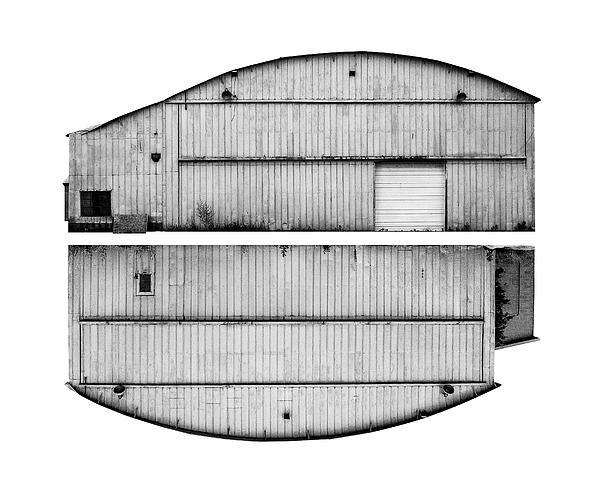 Landscape Photograph - Metal Hangar by Jamie Gannon