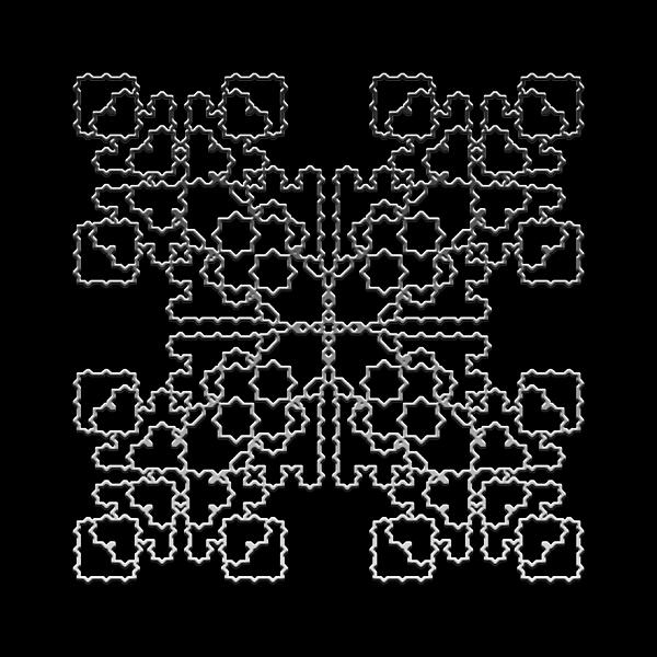 Lace Digital Art - Metallic Lace Av by Robert Krawczyk