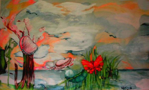 Transformation Painting - Methamorphose by Reka Kiss