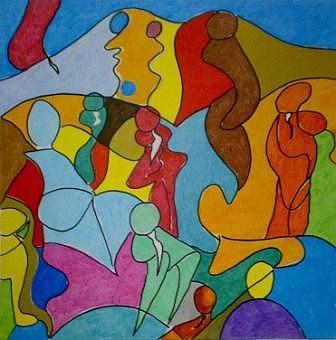 Metropolitan Dance Painting by Monica Straniero