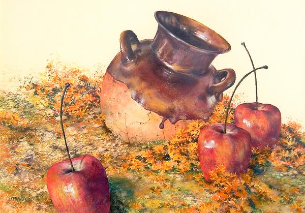 Latin American Paintings Painting - Mexican Apples 2 by DEVARAJ DanielFranco