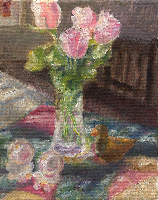 Rose Painting - Mexican Table by Rita Bentley