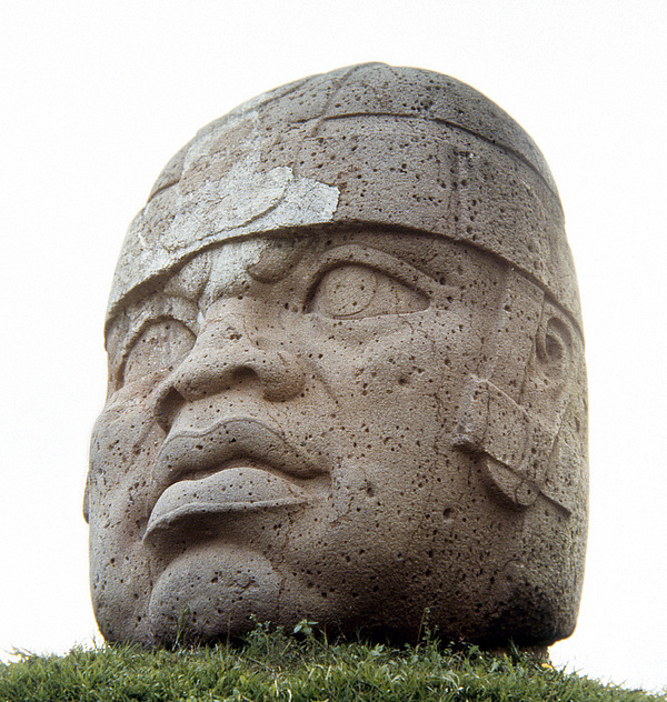 14th Century B.c Photograph - Mexico: Olmec Head by Granger