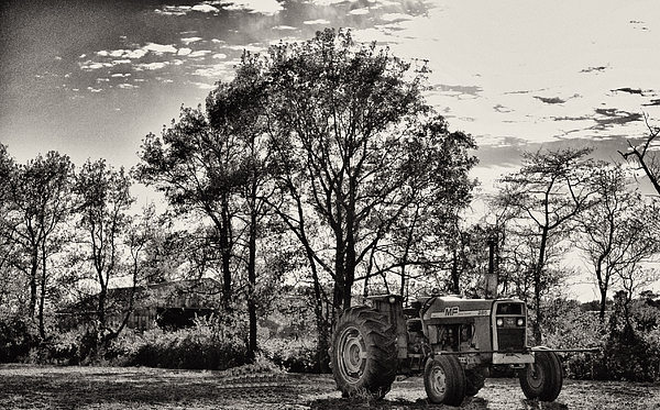 Tractor Photograph - Mf 285 Tractor by Kelly Reber