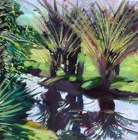 Miami Landscape - Summer Painting by Carlos Sanjurjo