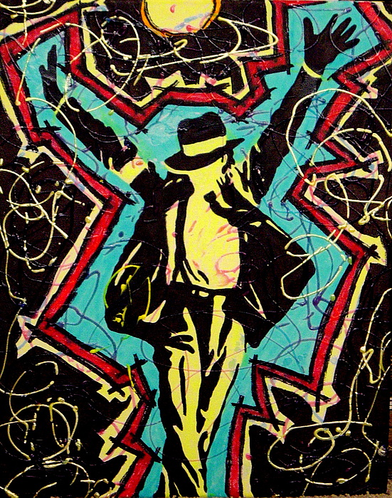 Michael Jackson Painting - Michael Jackson - King Of Pop by Gayland Morris