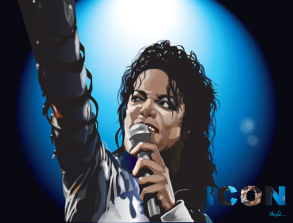Music Digital Art - Michael Jackson Icon by Mike  Haslam