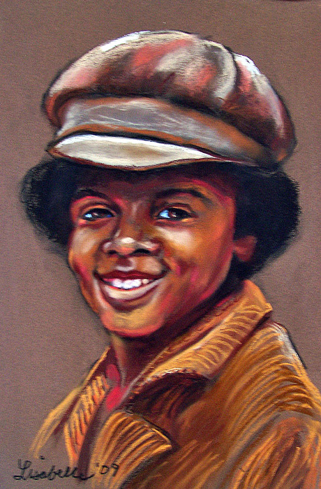 Pastel Portraits Painting - Michael Jackson  by Lisa Belle