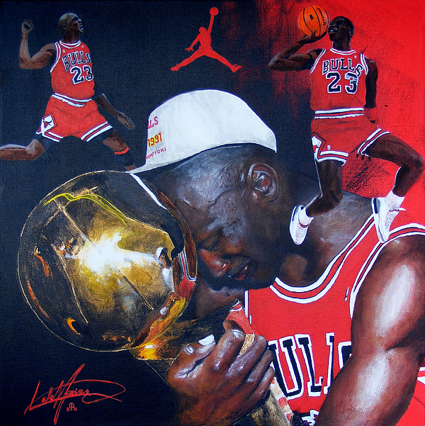 Michael Jordan Painting By Luke Morrison