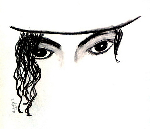 Michael Drawing - Michaels Eyes by Melody Anderson