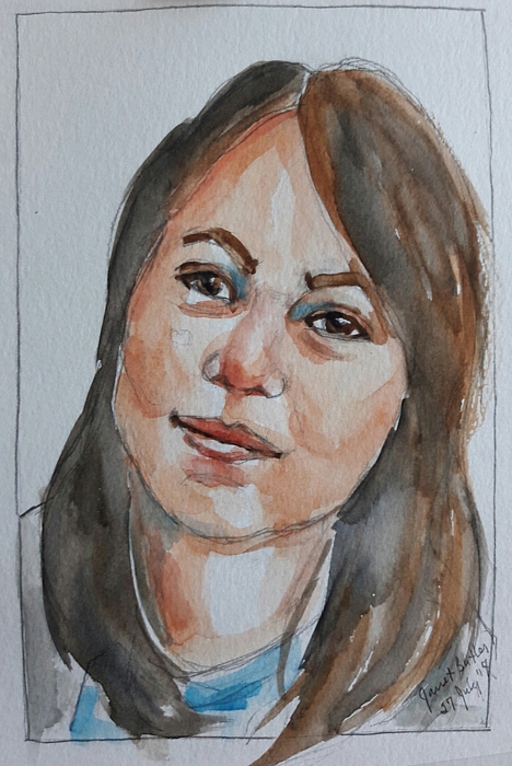 Portrait Painting - Michelle by Janet Butler
