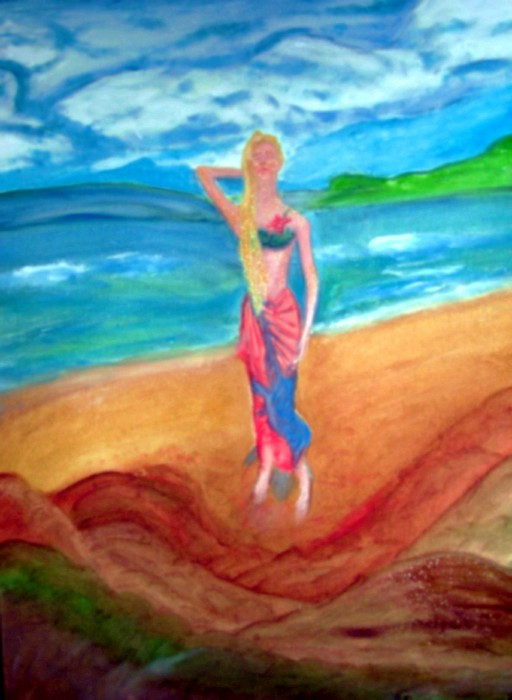 Model Painting - Michelle by Stanley Morganstein