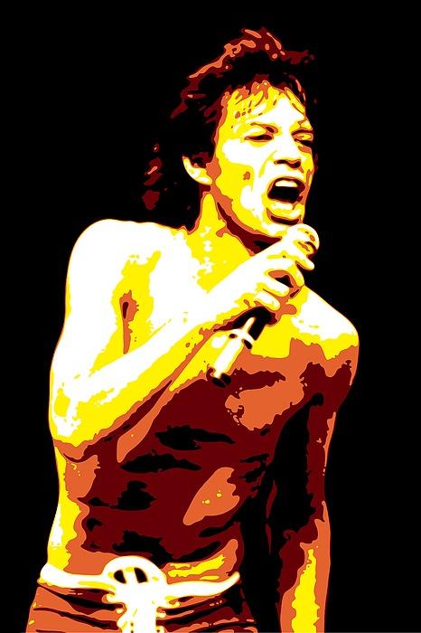 Mick Jagger Digital Art - Mick Jagger by DB Artist