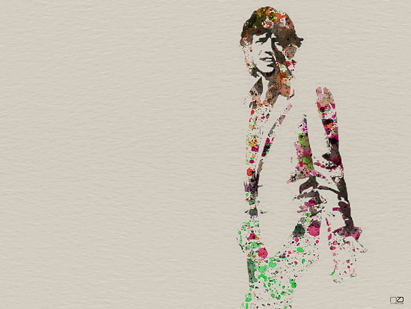 Mick Jagger Painting - Mick Jagger Watercolor by Naxart Studio