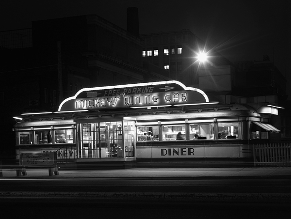 Diners Photograph - Mickeys Diner St.paul Mn by Kelly Povo