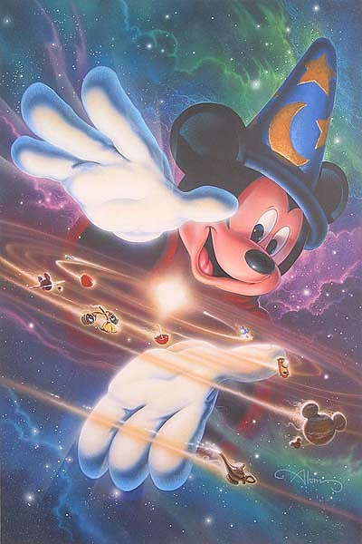 Mickey Mouse Print - Mickeys Universe by John Alvin