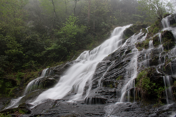Streams Photograph - Middle Catawba Falls Near Top by Forrest N Camellia