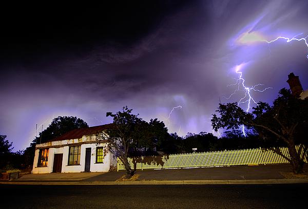 Lightening Photograph - Midnight Storm by Tim Nichols