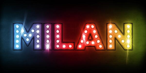 Milan Digital Art - Milan In Lights by Michael Tompsett