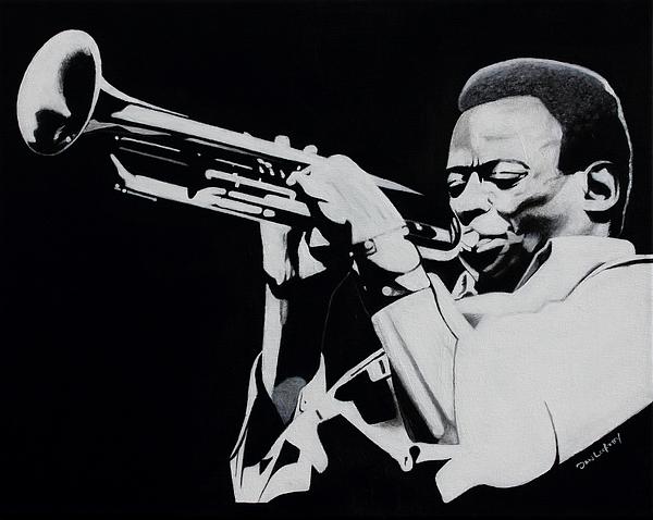 Miles Painting - Miles Davis by Dan Lockaby