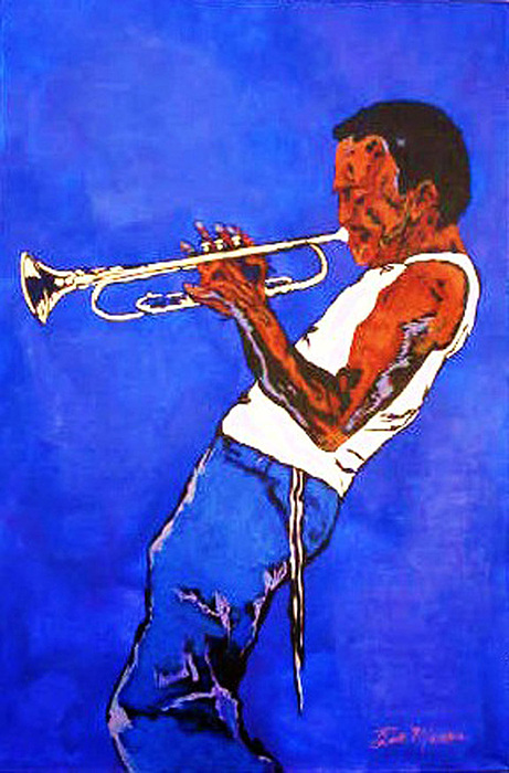 Miles Davis Paintings Painting - Miles Davis-miles And Miles Away by Bill Manson