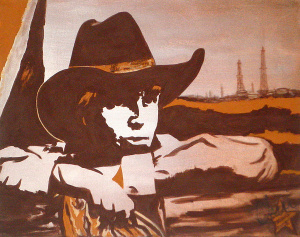 Cowboy Popart Painting - Miles Of Texas by Cheri Stripling