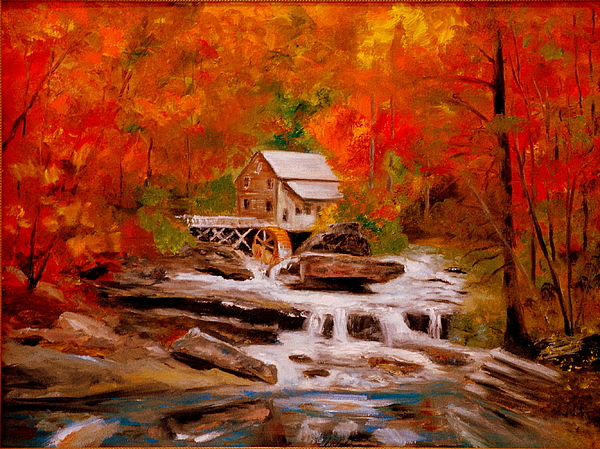 Mill Painting - Mill Creek by Phil Burton