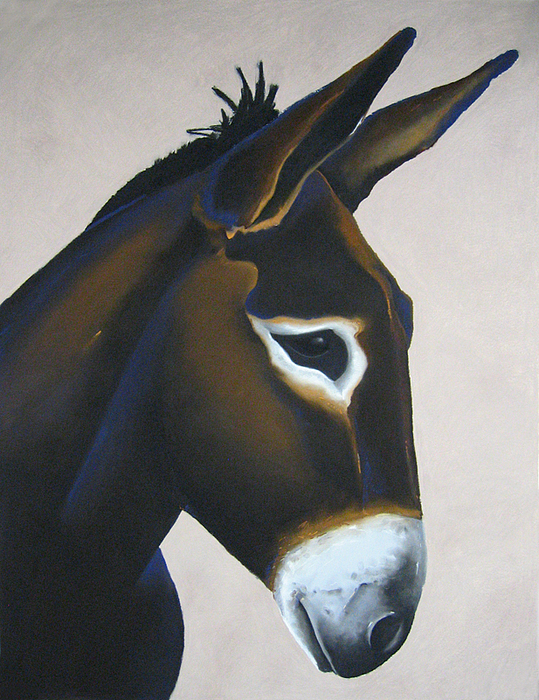 Burrow Painting - Milton by Brenda Wolf