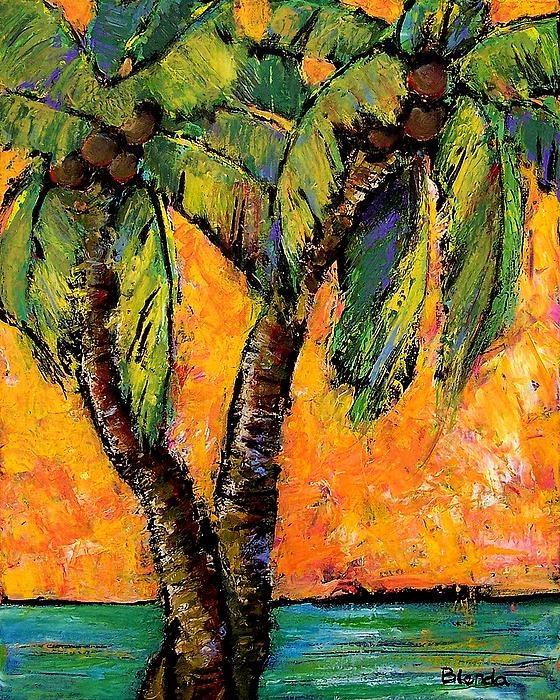 Bright Painting - Mimosa Sky Palm by Blenda Studio