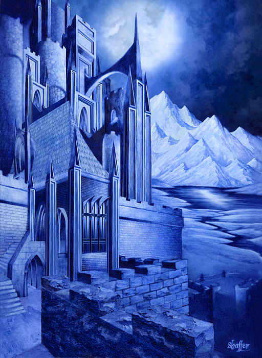 Lord Of The Rings Mixed Media - Minas Tirith by Curtiss Shaffer
