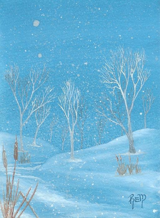Landscape Painting - Minnesota Winter... No. Two by Robert Meszaros