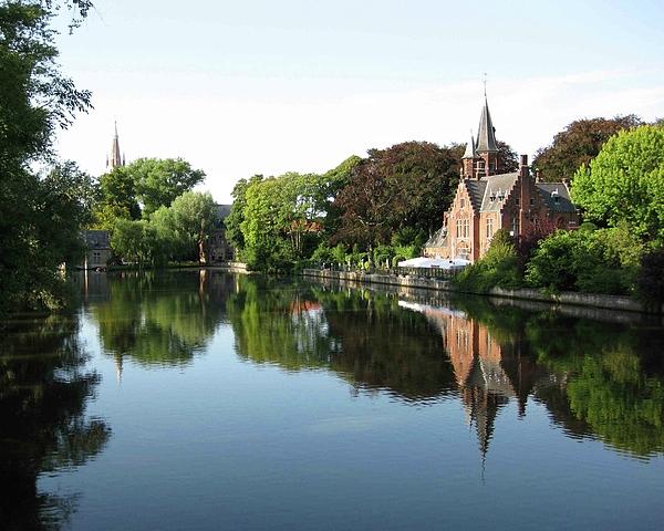 Park Photograph - Minnetwaterpark Bruges by David L Griffin
