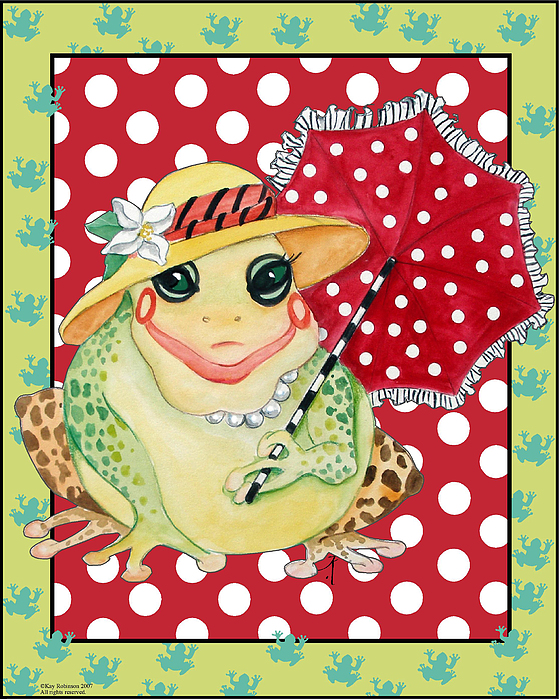 Animals Print - Miss Belle Frog by Kay Robinson