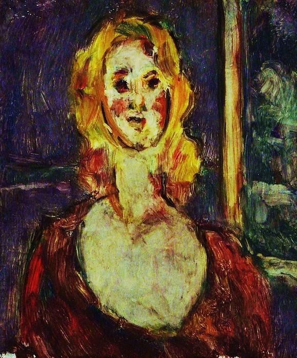 Portrait Woman Painting - Miss Blondy by Jean pierre  Harixcalde