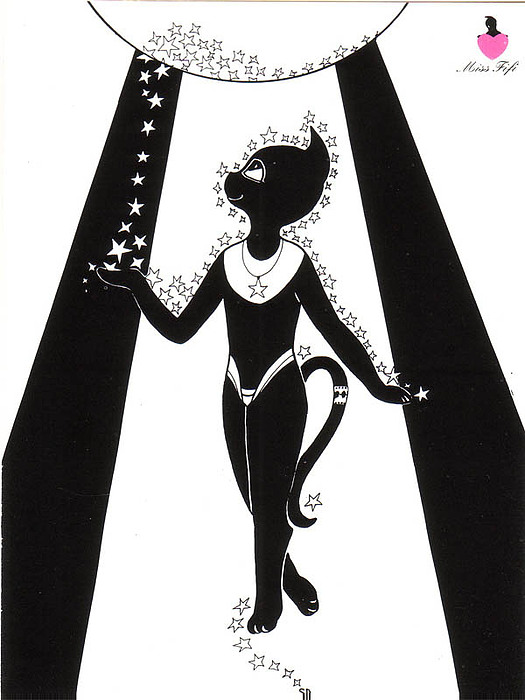 Miss Fifi Cosmic Kitten Drawing by Silvia  Duran