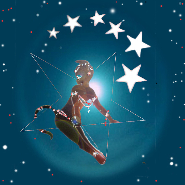 Swinging On A Star Digital Art - Miss Fifiswinging On A Star by Silvia  Duran