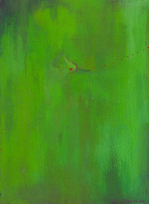 Abstract Painting - Miss Kiwi Blows A Kiss by Ricky Sencion
