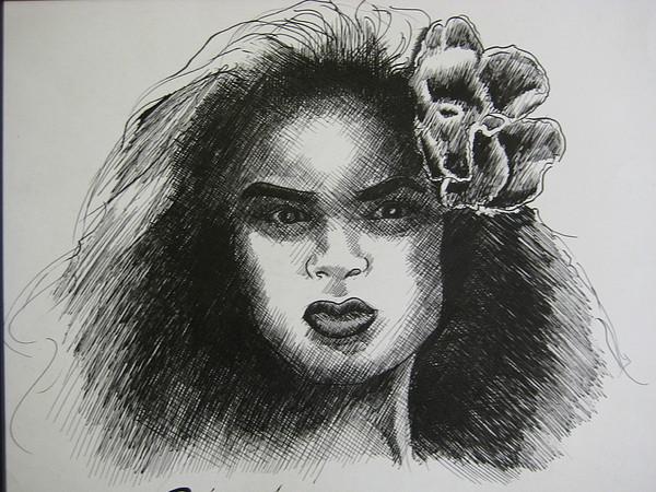 Hawaiian Dancer Painting - Miss Sagapolu by Dalushaka Mugwana