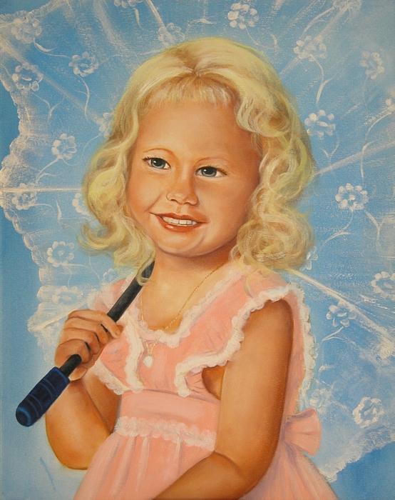 Portrait Painting - Miss Sunshine by Joni McPherson