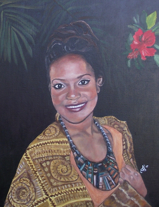 Acrylic Painting - Miss Tropical by Kim Selig