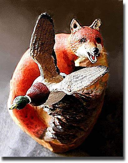 Fox Sculpture - Missed by Clifton Sears