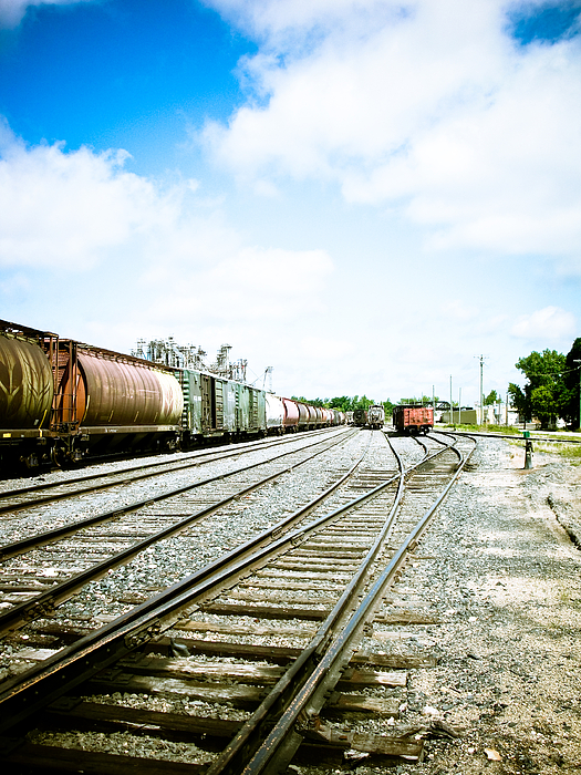 Trains Photograph - Mission Street Train Yard by Michael Knight