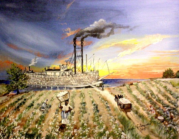 Memphis Painting - Mississippi Cotton Boat by Terri Kilpatrick