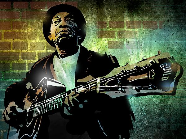 Blues Painting - Mississippi John Hurt by Paul Sachtleben