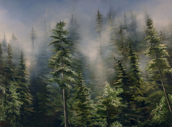 Trees Painting - Mist by Richard Cole