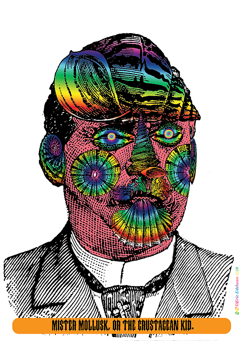 Digital Collage Digital Art - Mister Mollusk by Eric Edelman