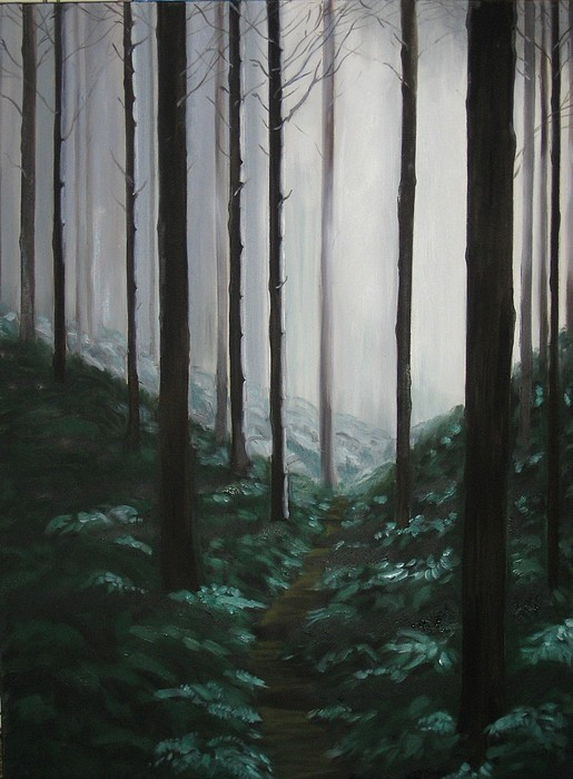 Forrest Painting - Mists Of Past Times by Maren Jeskanen