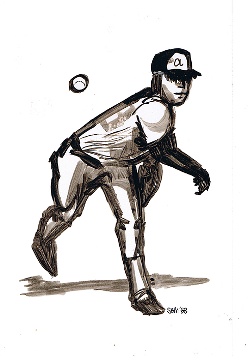 Mlb The Heater Drawing - Mlb The Heater by Seth Weaver